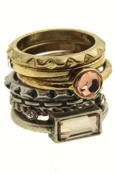 Shop Multipack Circle Copper Ring at ROMWE, discover more fashion styles online. Copper Rings, Summer Essentials, Romwe, Jewelry Rings, Rings For Men, Bling, Jewels, Purses, Bracelets