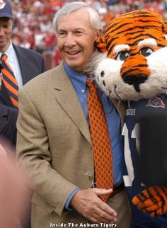 "I love this Coach Pat Dye quote ""Alabama fans love Alabama football.  Auburn fans love Auburn."""