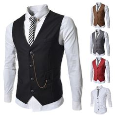 mens dress waistcoats business office formal V neck button down men vest suit with Metal Chain free ship - http://fashionfromchina.net/?product=mens-dress-waistcoats-business-office-formal-v-neck-button-down-men-vest-suit-with-metal-chain-free-ship