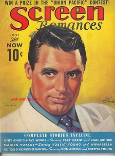 Screen Romances Jun 39   Cary Grant  Earl Christy Cover Art