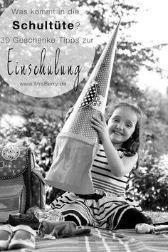 Was kommt in die Schultüte? Ich habe euch 30 Geschenke-Tipps zu Einschulung, Schuleinführung, Schulanfang für Erstklässler zusammengestellt: http://mrsberry.de/kommt-die-schultuete-30-tipps-zum-schulanfang/
