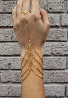 Lily Dawson Four Row Harness Bracelet #harness #handharness #lilydawsondesigns #lilydawson $30 (http://www.swankboutiqueonline.com/four-row-harness-bracelet/)
