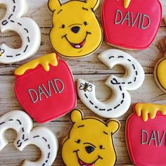 """Sometimes the smallest things take up the most room in your heart."" Wise words from Pooh [Custom Pooh Bear and Honey Pot Cookie Cutters, DM to inquire!] @sarahscustomcookies another custom tool super user #cookiecutterkingdom"