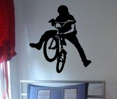 BMX Biker Version 3 Design Sports Decal Sticker Wall Vinyl