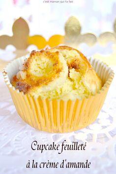 cupcake feuilleté à la creme d'amande cupcake des rois C'est maman qui l'a fait