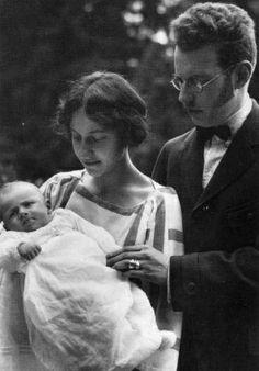 La princesse Elisabeth de Luxembourg 1901-1950), prince Louis von Thurn und Taxis et leur fils Anselm (1924-1944)