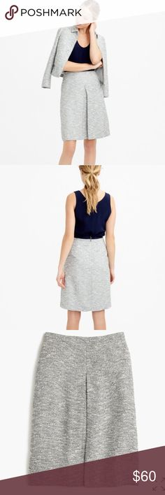 """J. Crew Tweed A-Line Skirt A classic A-line skirt in polished textured tweed by J. Crew. Sits above waist. 22"""" long. Falls above knee. Poly/cotton. Back zip. Lined. Dry clean. Size 8. NWOT. J. Crew Skirts A-Line or Full"""