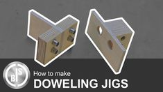For a future project I have to join several slats together. I want to do that with wooden dowels. So I build two Doweling Jigs for this job.
