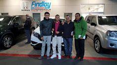 """Giovanni Garcia, 2016 Honda CR-V his 1st Vehicle! It's a Family Celebration! Findlay Honda Henderson."""