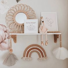 This rattan flower mirror is a beautiful statement piece that will add a special touch to any room. Handmade in Indonesia, these mirrors will have some minor imperfections which makes every piece unique. Boho Nursery, Nursery Room, Girl Nursery, Girl Room, Nursery Decor, Nursery Mirror, Decor Inspiration, Nursery Inspiration, Baby Bedroom