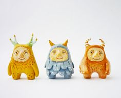 paperclay monsters - cute