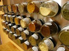 Magnetic Spice Rack Using Mini Mason Jars | 41 Easy Things To Do With Mason Jars