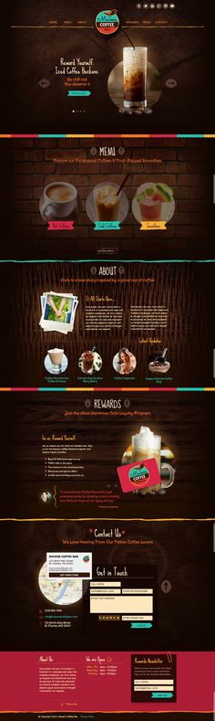 Mavens Coffee Template #webdesign #template