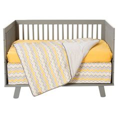 Trend Lab Buttercup Zigzag 3 Piece Crib Bedding Set - 100901