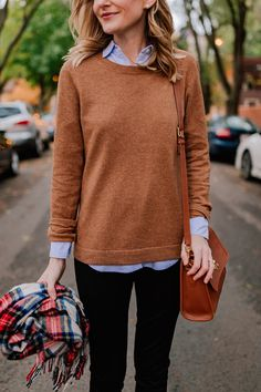 Camel Sweater & Preppy Fall Outfits | Kelly in the City
