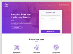 Landing Page designed by Felipe Borges. Connect with them on Dribbble; Form Design, Landing Page Design, Benefit Brow, It Works