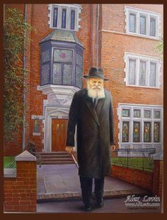 The Lubavitcher Rebbe, Rabbi Menachem Mendel Schneerson- Painting by Alex Levin