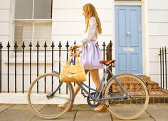 Bicyclista and her Classic Pashley Bicycle