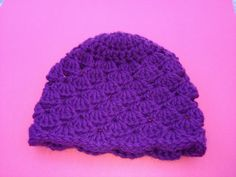 Crochet Cap made for Click for Babies Charity.