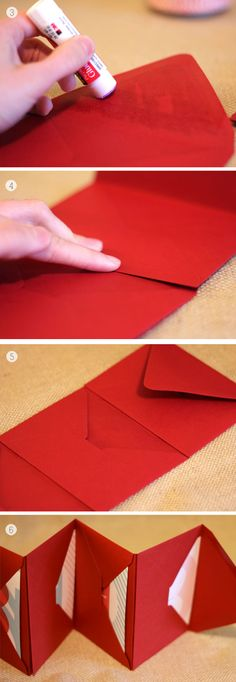 Accordéon d'enveloppes pour recueillir des trésors pour son carnet de voyage, pour écrire une lettre par jour...
