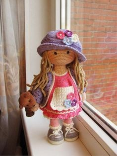 Mesmerizing Crochet an Amigurumi Rabbit Ideas. Lovely Crochet an Amigurumi Rabbit Ideas. Crochet Doll Clothes, Knitted Dolls, Crochet Patterns Amigurumi, Amigurumi Doll, Crochet Dolls Free Patterns, Knitting Patterns, Cute Crochet, Stuffed Toys Patterns, Handmade Toys