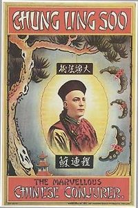 Chung Ling Soo - in front of the Moon