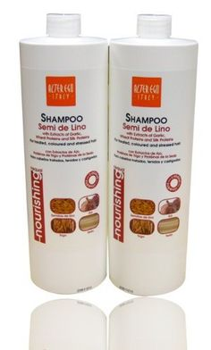 """ALTER EGO SEMI DE LINO SHAMPOO 33.8OZ """"Pack of 2"""" by ALTER EGO. $53.50. ALTER EGO-SEMI DE LINO SHAMPOO 33.8OZ """"Pack of 2"""". GB Linseed Oil Shampoo: Rich in Natural Active Principles, ideal for treated, coloured and stressed hair structures. Its specific formula enriched with extracts of Garlic and Wheat Proteins carries out a gentle cleansing and deep intensive nourishing action. The Silk Proteins in its formula leave hair weightless and briliant. Ideal for frequen..."""