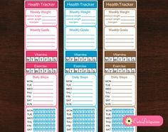 Free Printable Health Tracker Side Bar Stickers