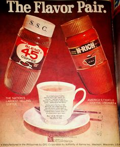 I used to drink this coffee when I was in the Philippines Banana Art, Philippines Culture, Local Ads, Commercial Ads, Oldies But Goodies, Coffee Creamer, My Childhood Memories, Pinoy, Print Ads