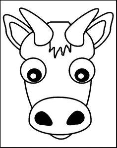İnek boyama sayfası, cow coloring pages free printable Emoji Coloring Pages, Bird Coloring Pages, Online Coloring Pages, Christmas Coloring Pages, Coloring Pages For Kids, Coloring Books, Animal Mask Templates, Cow Mask