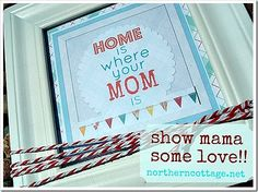 """""""Home is where your Mom is"""" ...this is so sweet. The artwork doesn't really fit my personal style but I absolutely ADORE the quote!"""