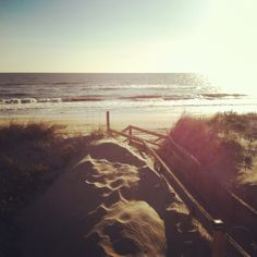 I loved this view coming over the dunes in the morning on The Outer Banks! #OBX