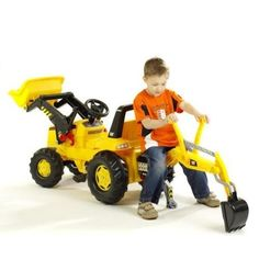 Kettler USA CAT Front Loader Pedal Construction Vehicle with Backhoe