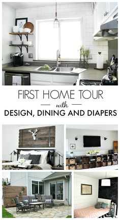 A Home Tour of DIY Blog Design, Dining and Diapers
