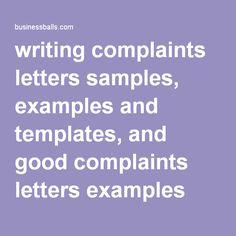 9 Best Complaint Letter images in 2016 | Letter templates, Letter