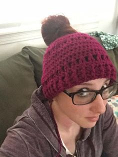 Free pattern inspired by Stacey Thorngren's hat.  Michigan girl [living a] Military Life: Messy Bun Crochet Beanie Pattern. http://jharris01.blogspot.com/2016/12/messy-bun-crochet-beanie-pattern.html  (Original for $ here: http://www.ravelry.com/patterns/library/staceys-bun-hat .)