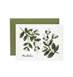 Mistletoe Available as a Single Folded Card or a Boxed Set of 8