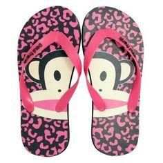 Paul Frank Flip Flops-Monkey Face Pink Leopard Druck Größe S/M - http://on-line-kaufen.de/paul-frank/paul-frank-flip-flops-monkey-face-pink-leopard-s-m