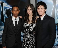 Brandon T. Jackson, Alexandra Daddario and Logan Lerman