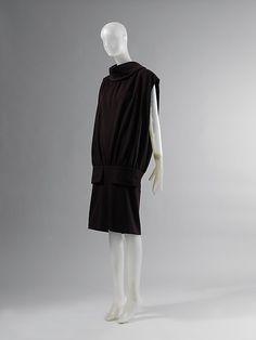 1955-1956, France - Wool dress by Cristobal Balenciaga