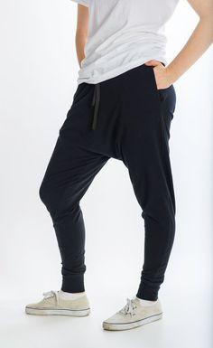Harem Pants with pockets Baggy Sweatpants Drop Crotch Harem