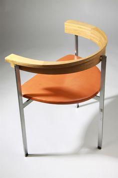 Armchair, PK11. Designed by Poul Kjaerholm for E. Kold Christensen, Denmark. 1957.