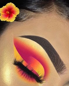 "History of eye makeup ""Eye care"", quite simply, ""eye make-up"" happens to be a field Pink Eye Makeup, Makeup Eye Looks, Eye Makeup Art, Colorful Eye Makeup, Beautiful Eye Makeup, Crazy Makeup, Cute Makeup, Skin Makeup, Makeup Inspo"