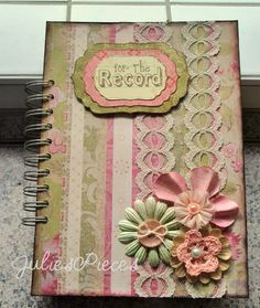 Handmade Junk Journal http://www.etsy.com/listing/93588194/custom-made-junk-journal-smash-book