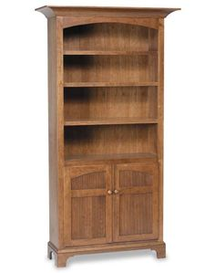 Alternate View Of New Bedford Shaker Amish Bookcase With Doors Office
