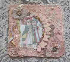 Shabby Chic Mixed Media Wall Hanging  Collage by KISoriginals