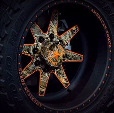 Haha this, Camo  Hunter Orange wheels for your truck