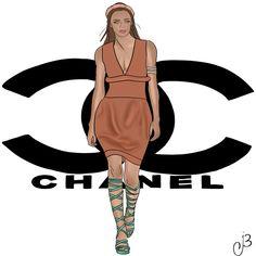Chanel procreate app drawing fashionart