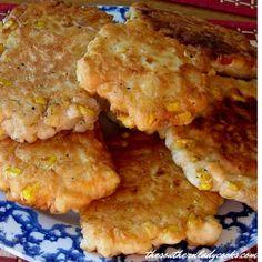 Corn Fritter Recipes, Corn Recipes, Vegetable Recipes, Corn Nuggets Recipe, Corn Dishes, Side Dishes, Easy Corn Fritters, Boricua Recipes