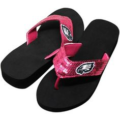 Philadelphia Eagles Pink Sequin Flip Flops - These are REQUIRED for this  summer! 3a40d1a2d